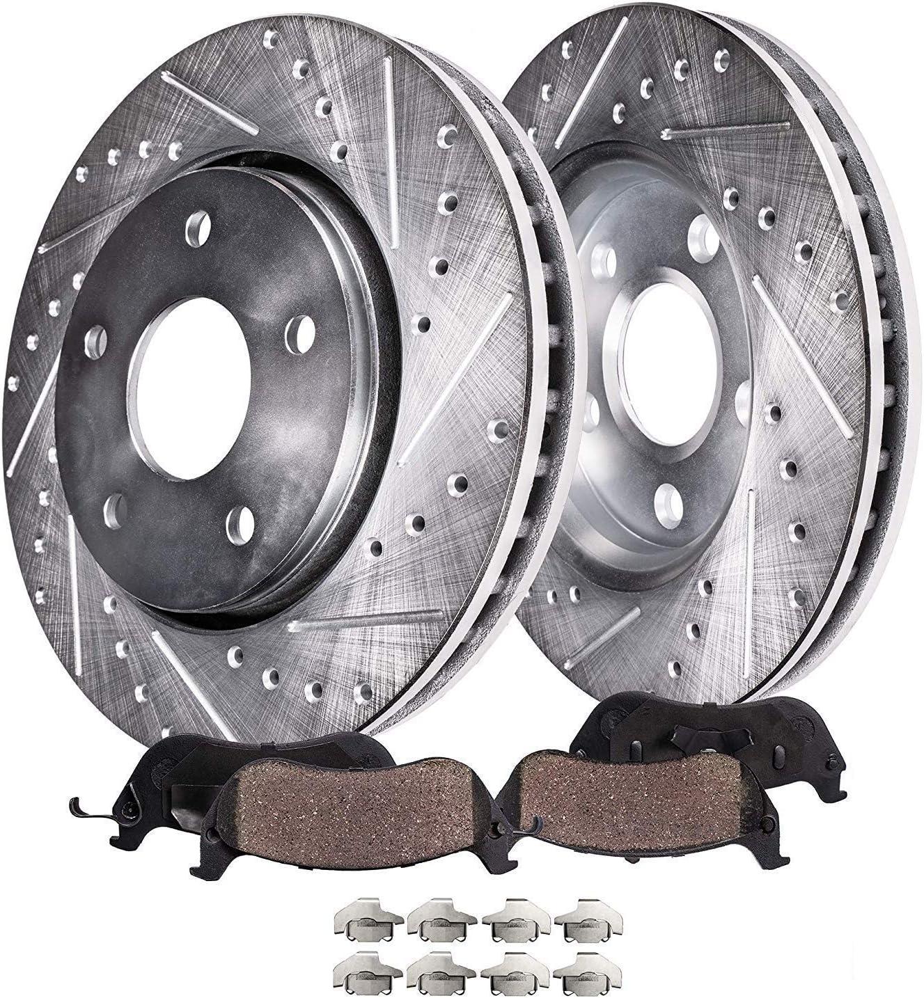 Rear OE Brake Rotors And Ceramic Pads 2001 2002 2003 2004