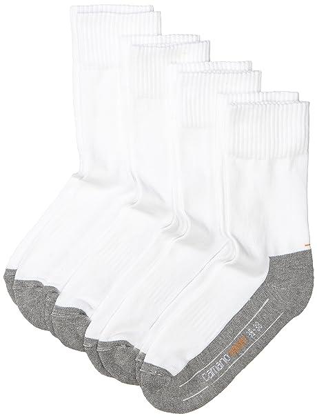Camano 5942 Sport Socks 4 Paar - Calcetines de deporte para hombre, color blanco (