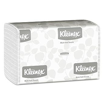 KLEENEX* Airflex* Toallas Secamanos 1890 - Multifold, 150 toallas de color blanco y