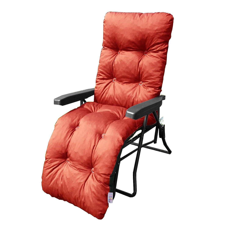 Indoor Seat Pad Large Booster Cushion Plain Orange 40x40x10cms Garden