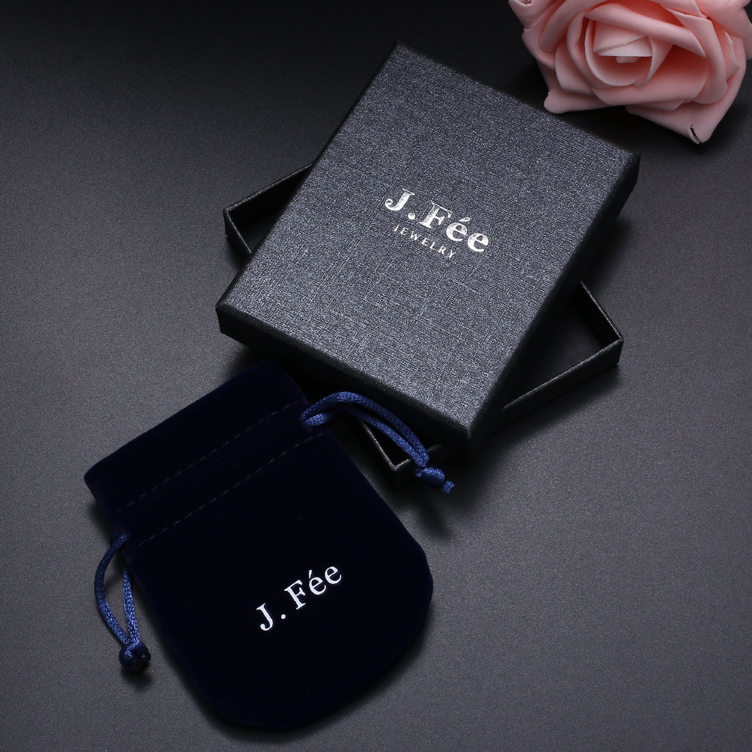 J.Fée Relationship Couples Bracelet His-and-Hers Matte Black Onyx White Howlite Distance Bracelet 7in&8in (7 inch White&Black) by J.Fée (Image #6)