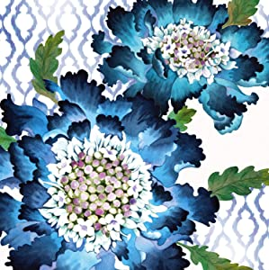 Blooming Blue Paper Luncheon Napkin Set of 20-7 x 7 Inches