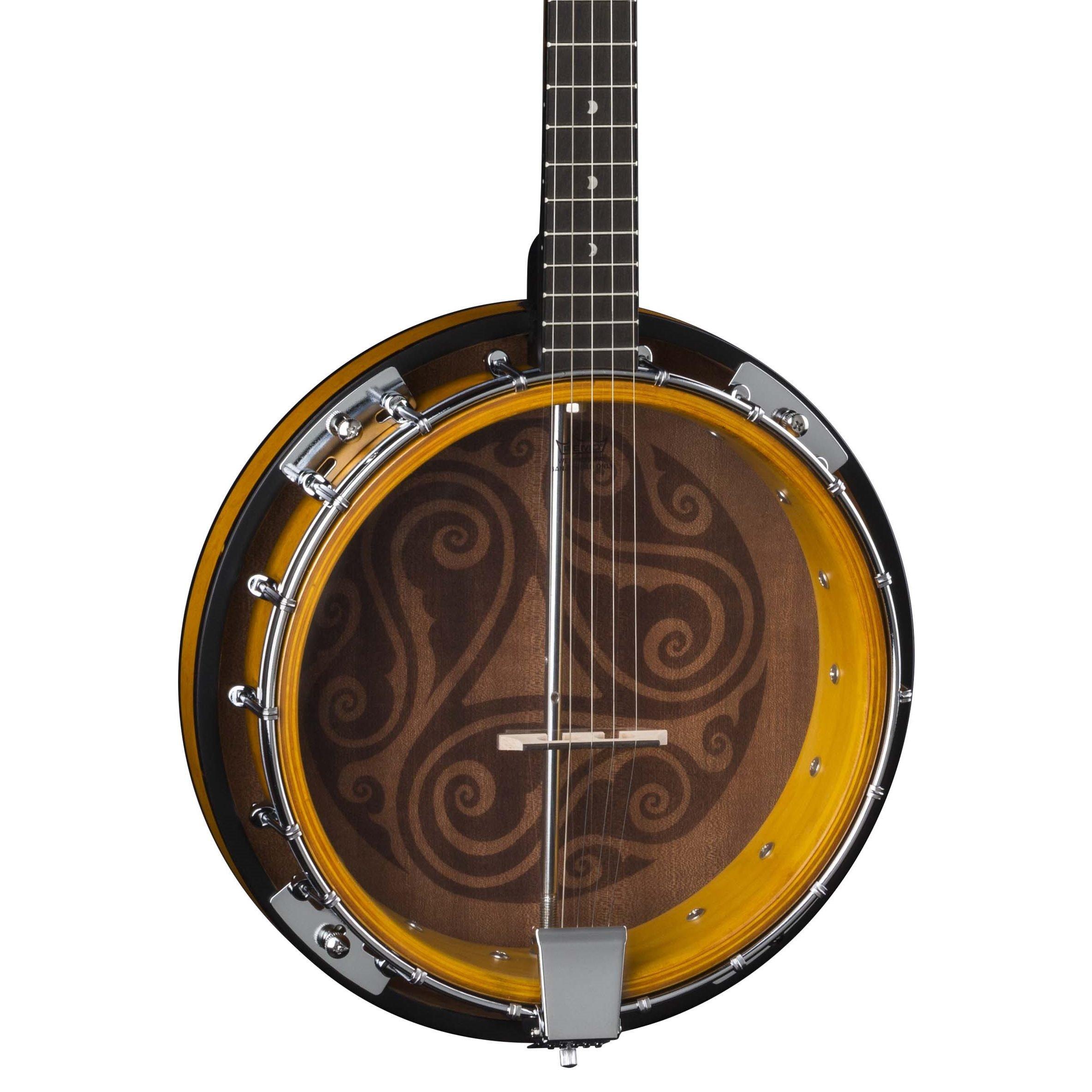 Luna Celtic 5-String Banjo, Tobacco Burst