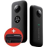 hardwrk Insta360 ONE X Edition mit exklusiver Schutzhülle - 360 Grad Action Sport Kamera Cam für Apple iPhone und Android - 5,7k Video Auflösung - 18 MP - VR Panorama - FlowState Stabilisierung