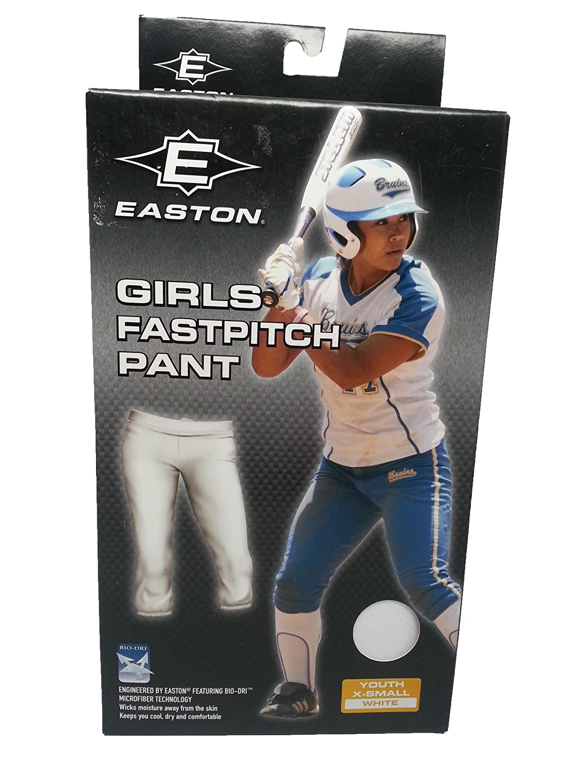 buy online a2bd2 b6a30 Easton Girl's Fastpitch White Softball Pants Size X-small