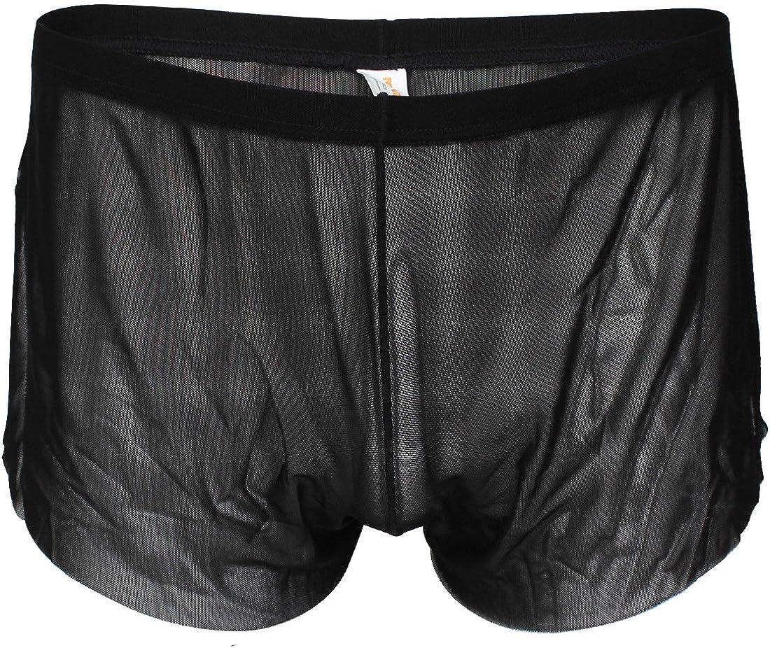 iEFiEL Mens Breezy Side Split House Shorts Boxer Underwear Summer Leisure Trunks