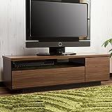 【スマートフォルム 国産テレビボード】 完成品 無駄のない収納テレビ台 開梱設置サービス付き ブラウン色