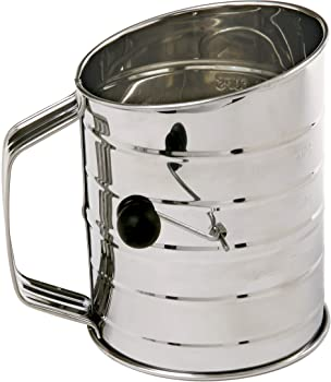 Norpro Stainless Steel 3 Cup Rotary Hand Crank Flour Sifter