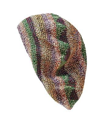 80347fd1d4211 Inspirit Arts Extra Large Tam Beret Hat Heathered Earthtone Hand ...
