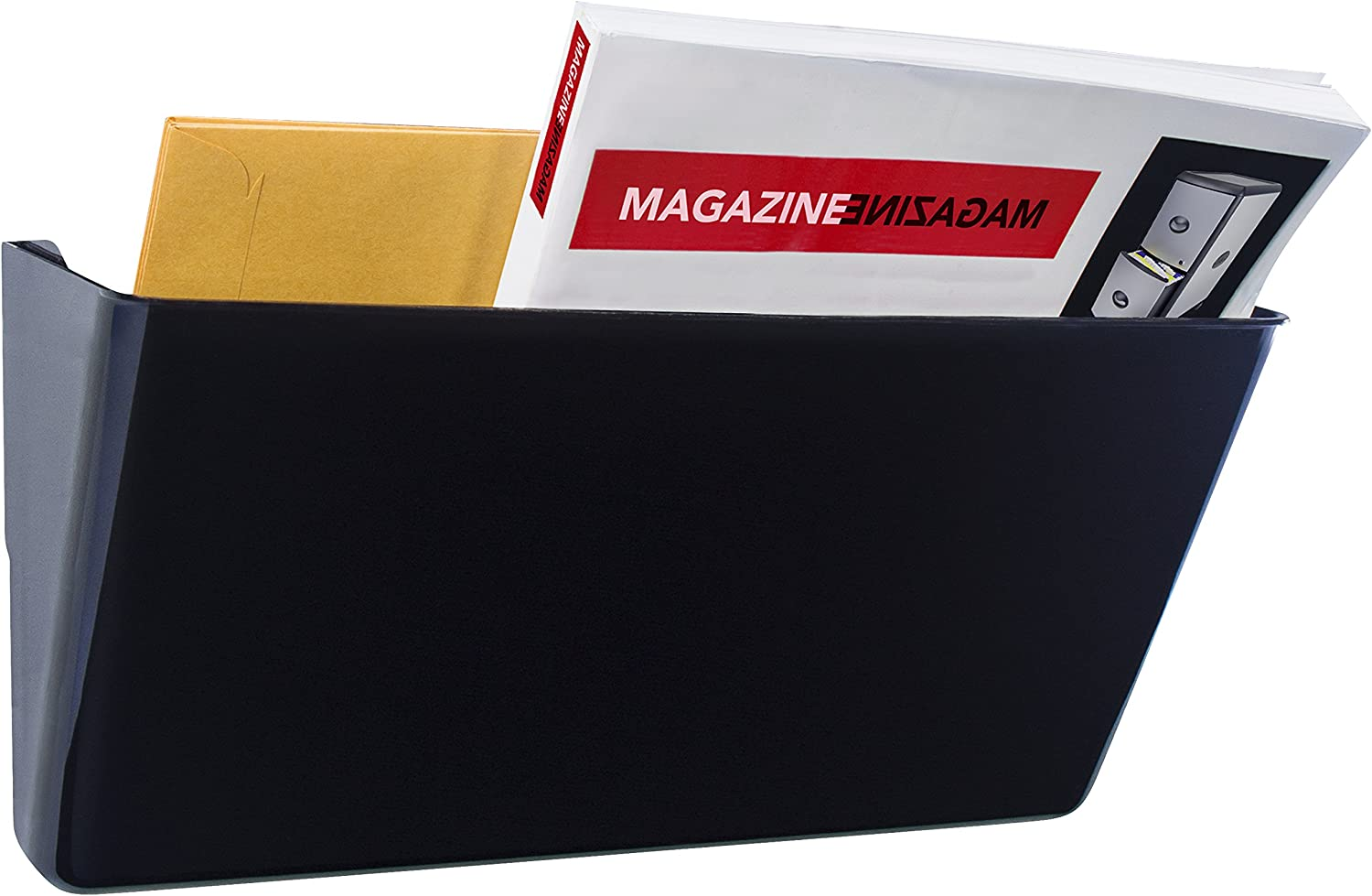 13 x 7 x 4 Inches Each 70216B04C Storex Recycled Wall Files Black Case of 4 6-Packs Letter
