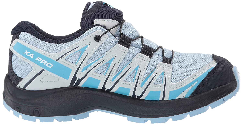 Blau Cashmere Blue//Illusion Blue//Cyan Blue Trailrunning-Schuhe Wasserdicht Salomon Kinder XA Pro 3D CSWP J Gr/ö/ße 36