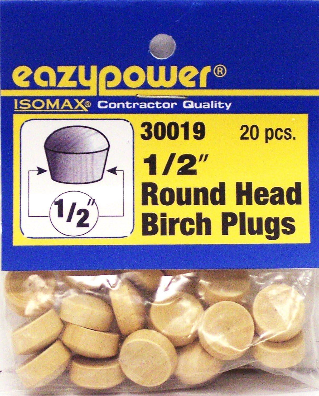Eazypower 30019 1//2 Round Head Plugs 20 Piece