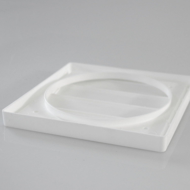 Rejilla de Ventilaci/ón Aire Externo del Louvre L/áminas Pl/ástico Klimapartner VK 160