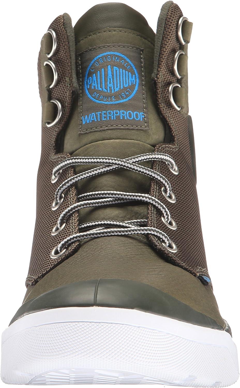 Palladium Pallarue Hi Cuff WP, Rangers Boots Homme Vert Militaire