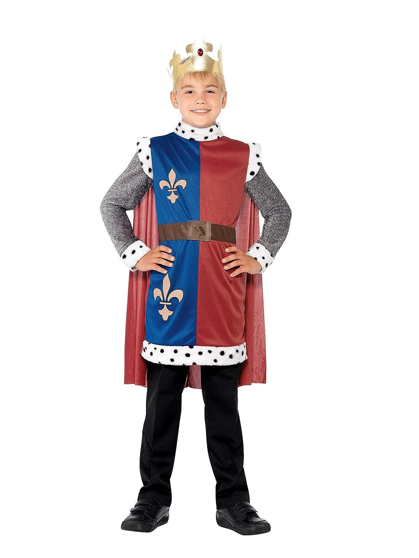 Smiffys D/éguisement Enfant Roi Arthur 44079 Cape et Couronne Tunique Couleur: Multicolore /Âge 4-6 ans