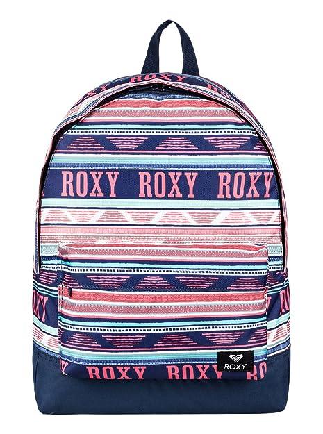 Roxy Sugar Baby Mochila Pequeña, Mujer, Verde/Blanco (Bright White AX Boheme Border), 16 l: Roxy: Amazon.es: Deportes y aire libre