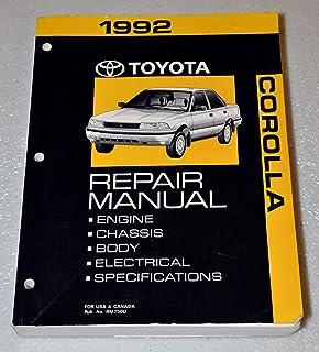 1992 Toyota Corolla Repair Manual