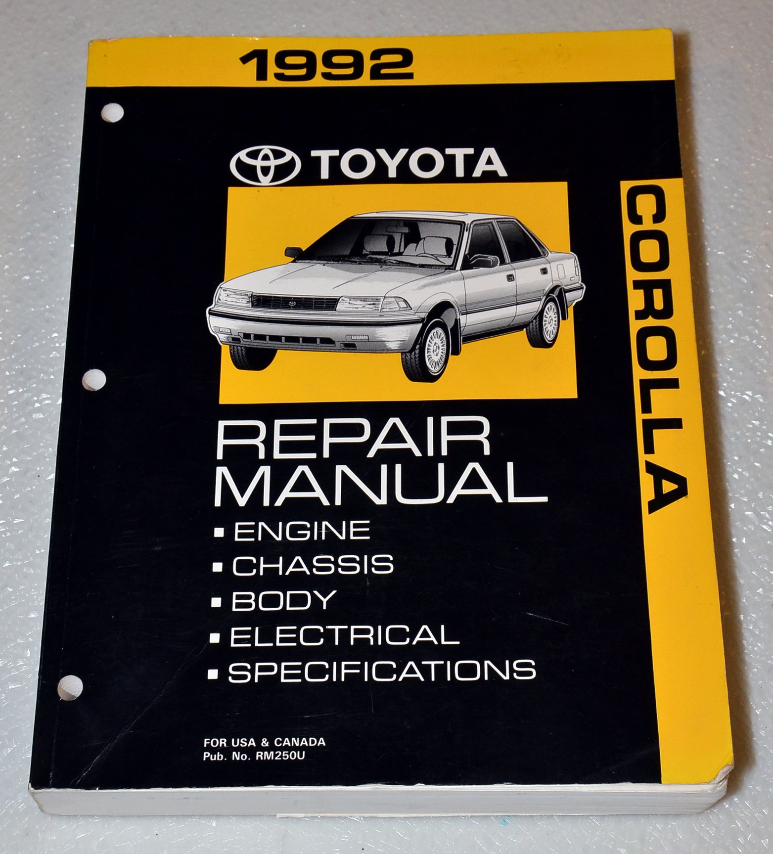 Toyota Corolla Repair Manual: Replacement