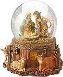 Roman 7.5 inch Musical Lighted Fontanini Nativity Stable Scene Christmas Glitterdome Snow Globe