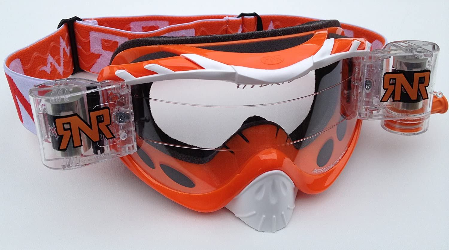 LIMITED WHITE BLUE RIP N ROLL RNR HYBRID FULLY LOADED MOTOCROSS MX GOGGLES