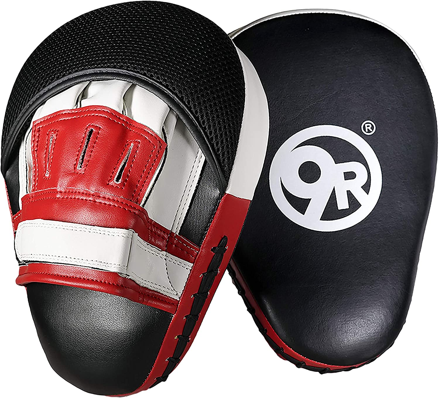 Sunny Days Entertainment 9Round Fitness Focus Punch Mitts for Men and Women | Boxing Strike Pads for Training at Home - Red and Black (320199)