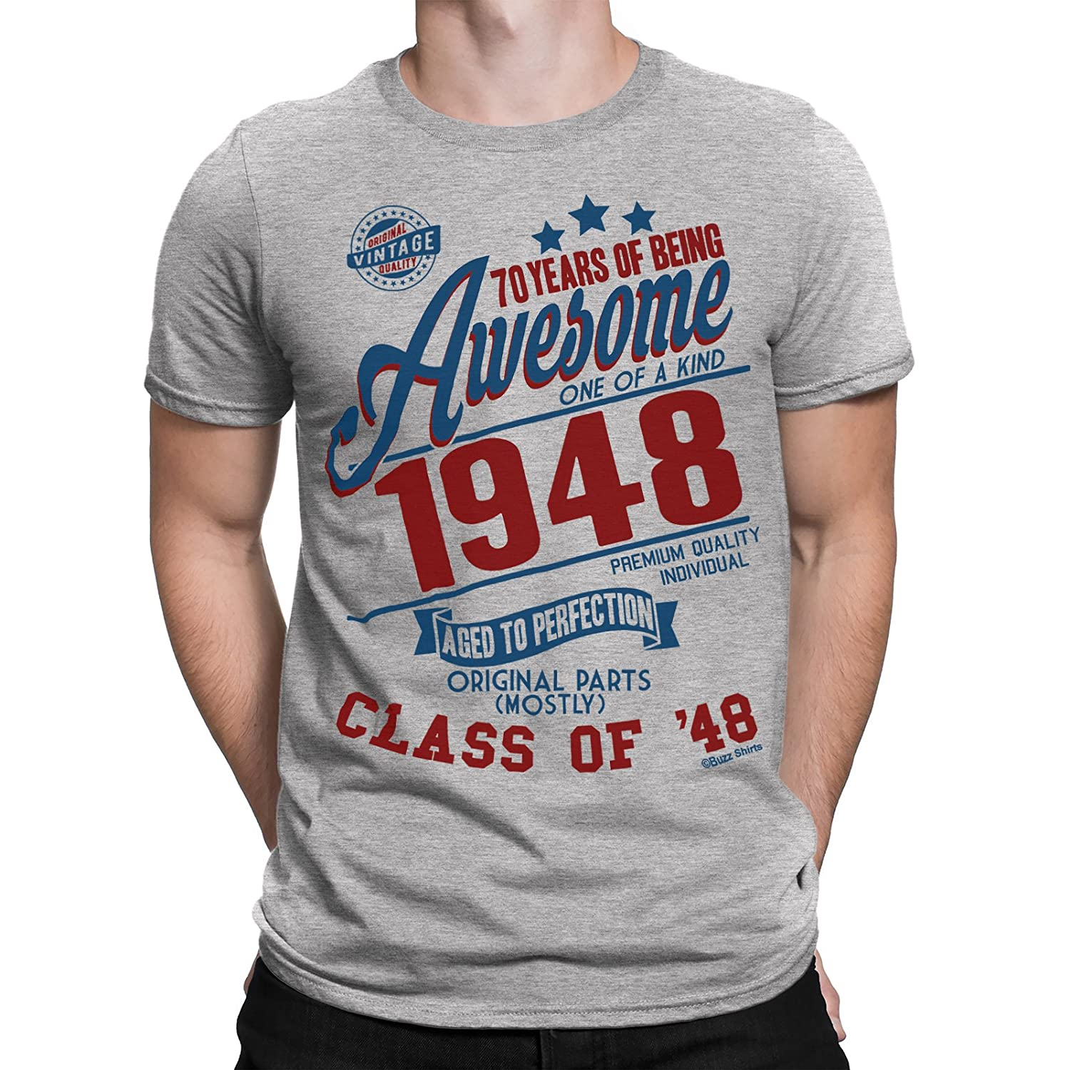 9df945599cc52 70 Years Of Being AWESOME Hommes 70th T-Shirt Class of 1948 Cadeau d