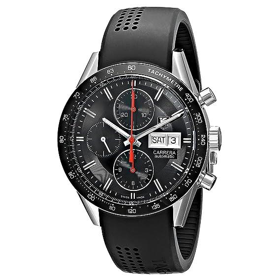 TAG Heuer Carrera - Reloj (Reloj de pulsera, Masculino, Negro, Acero inoxidable