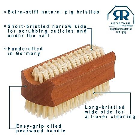 Redecker pearwood Travelling Ongles Pinceau Manucure//Pédicure Scrubbing Bristle