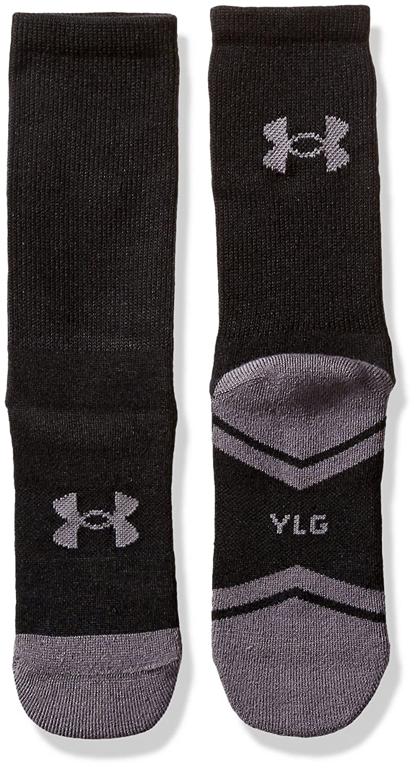White//Graphite Youth Large Under Armour Socks U292B 6-Pack Under Armour Youth Resistor 3.0 Crew