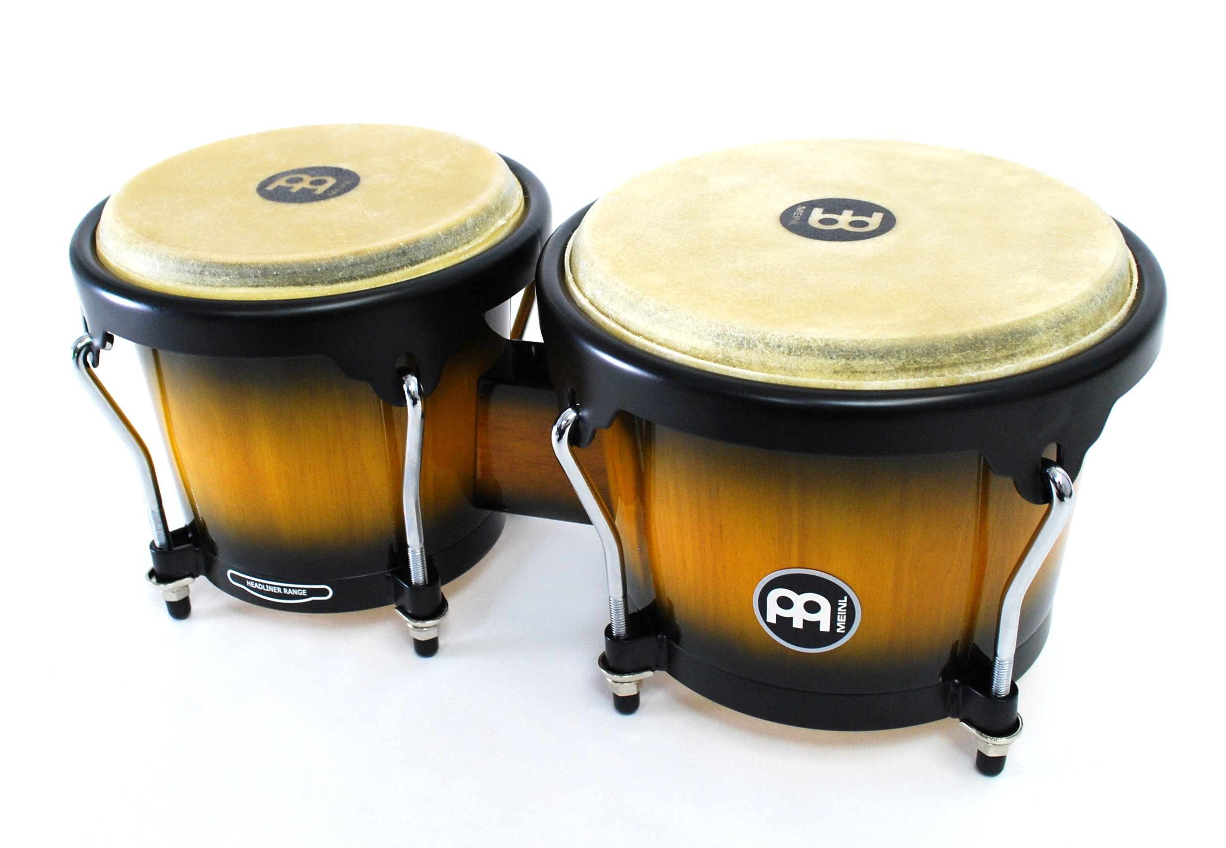 Meinl Percussion Bongos With Hardwood Shells - NOT MADE IN CHINA - Vintage Sun burst Finish, Buffalo Skin Heads, 2-YEAR WARRANTY HB100VSB by Meinl Percussion (Image #6)