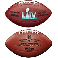 $139 » Wilson Super Bowl 54 LIV Official NFL Leather Game Football - New in Wilson Box - with San Francisco 49ers & Kansas City Chiefs engraved…