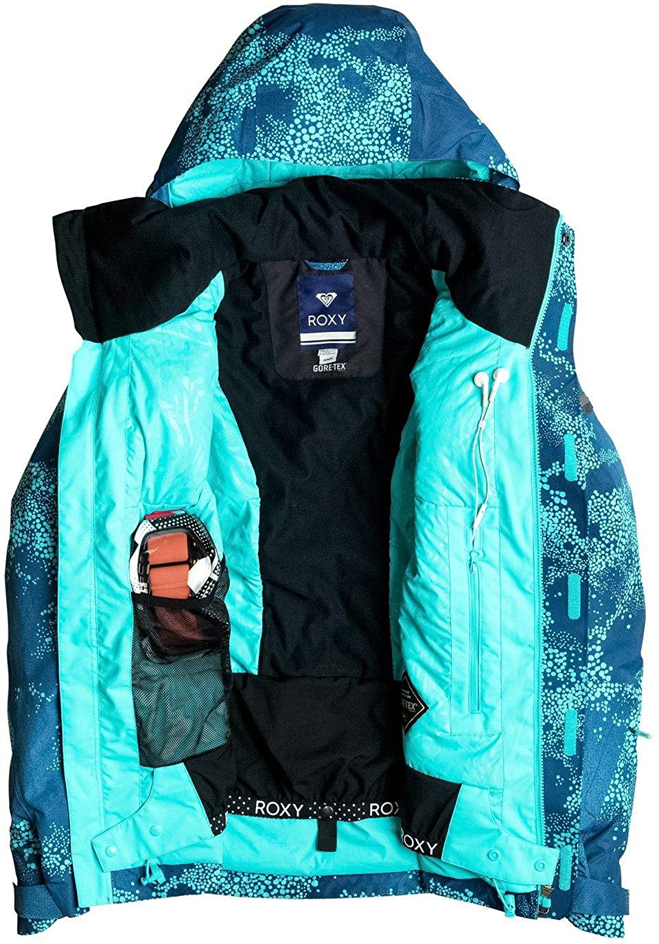 Roxy Snow Juniors Wilder Printed 2l Gore-tex Tailored Fit Snow Jacket