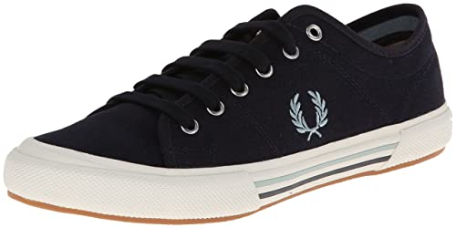 Fred Perry Vintage Tennis Canvas Navy Mens Trainers 182e4e1b633
