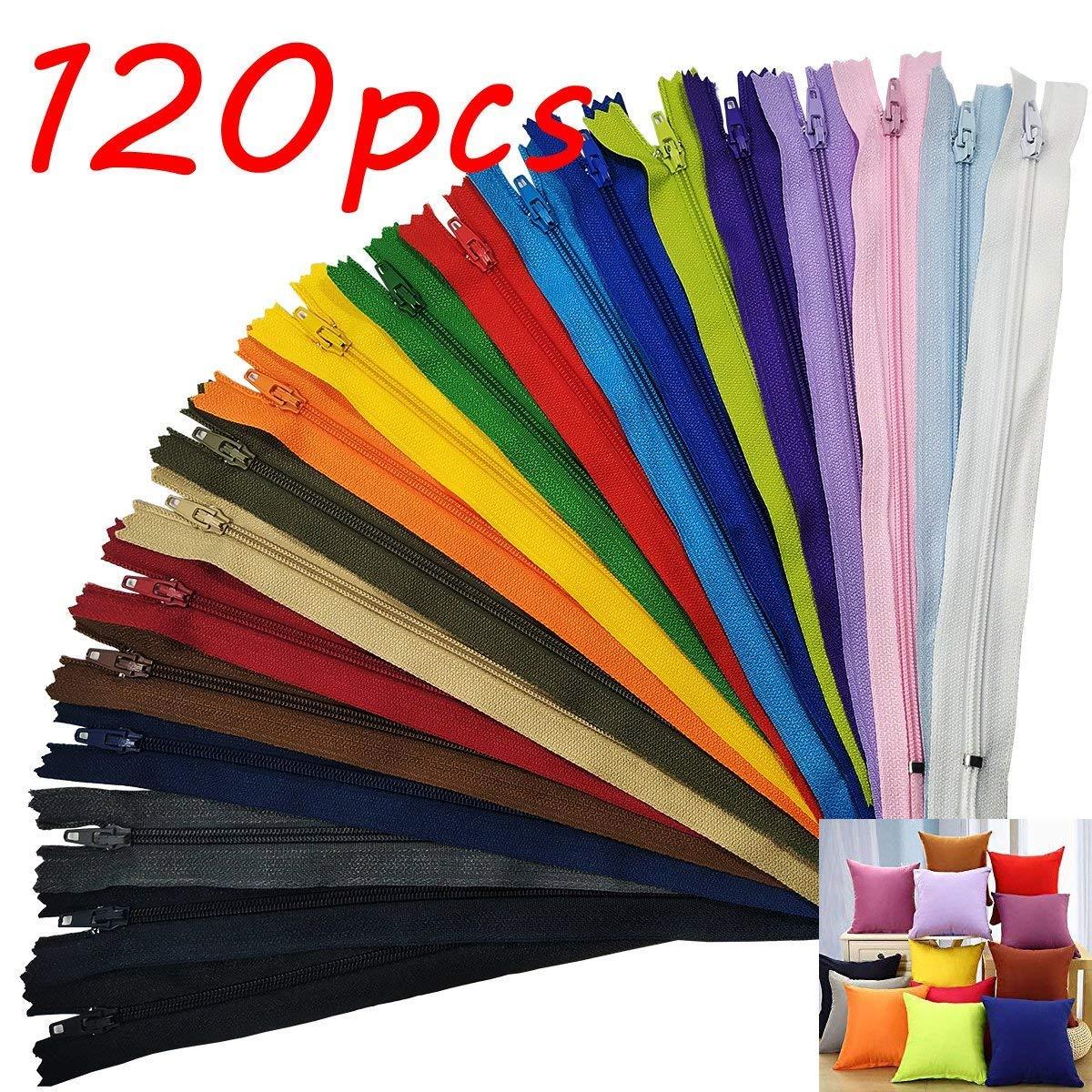 lot de 120pcs, 22cm 20 couleurs SuperHandwerk Fermetures /Éclair en Nylon en vrac pour tailleur couture artisanat