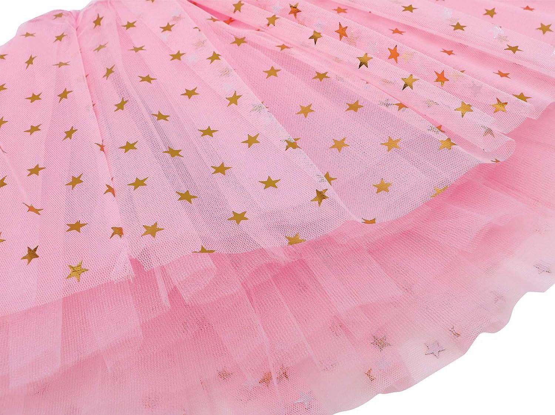 Lullaby 4 Layered Girls Tutu Skirt Fluffy Stars Sequins Princess Dress up Ballet Tutu