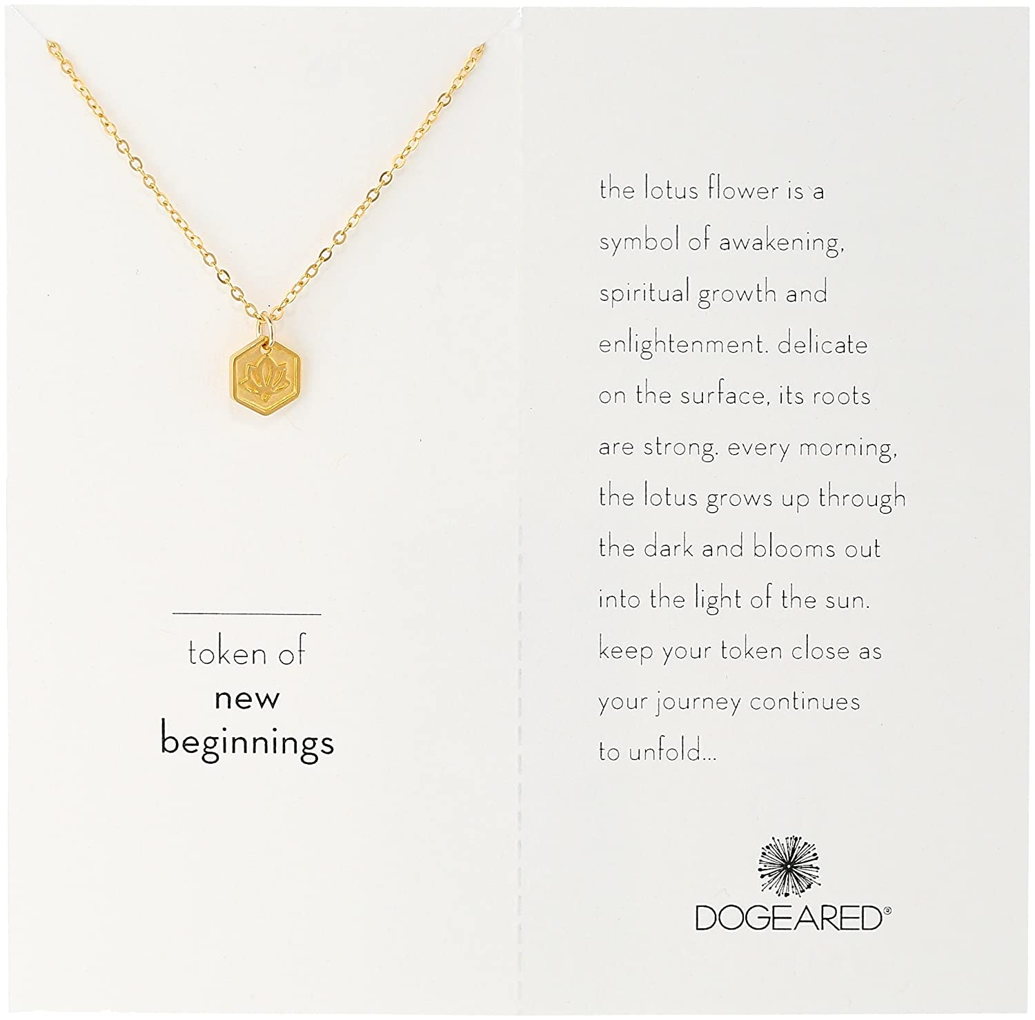 Amazon Dogeared Tokens Of New Beginnings Lotus Gold Plated