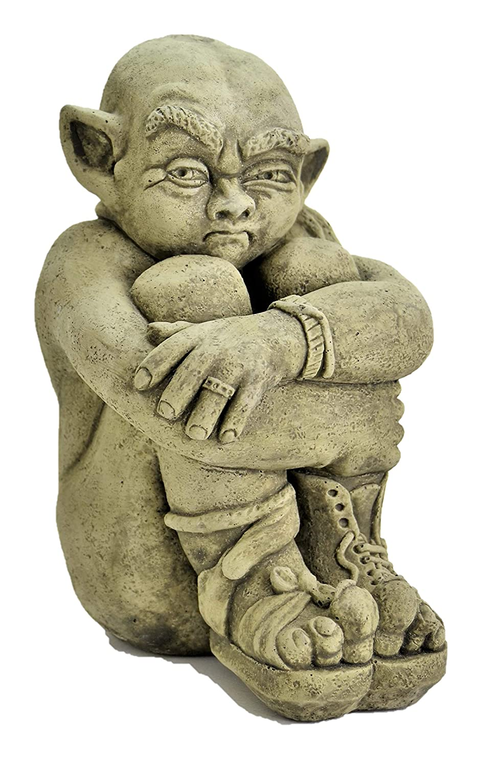 Hugo-Garden Ornament-Gargoyle-Sculpture Stone Statue-Home Patio-Decorative Gift