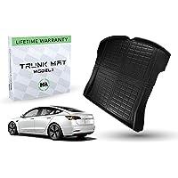 #1 Tesla Model 3 Trunk Mat - Fits 2017 - 2021 Ultimate All Weather & All Season Waterproof 3D Floor Liner - Trunk Mat…