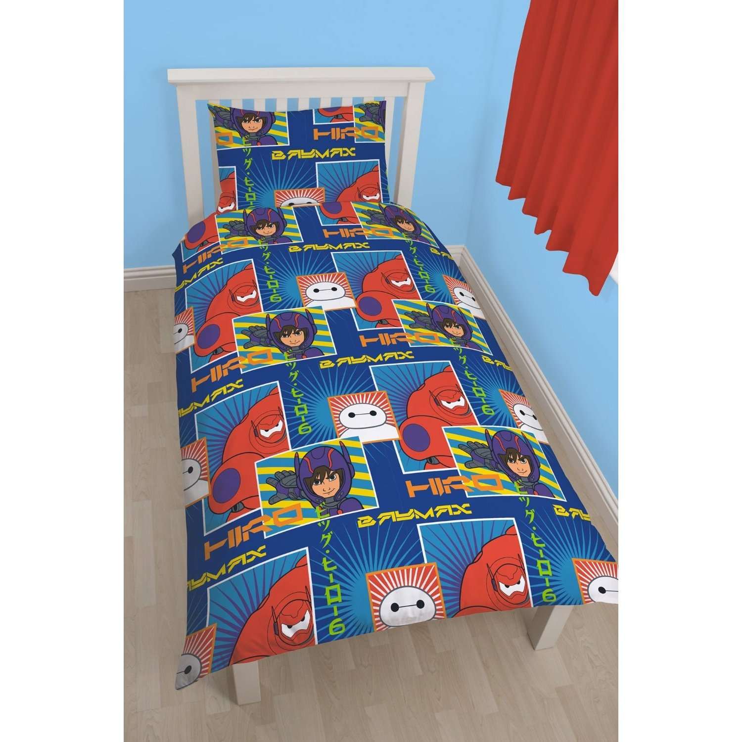 Latest Character World Disney Big Hero Six 6 Single Panel Duvet Set 50/% Cotton 50/% Polyester
