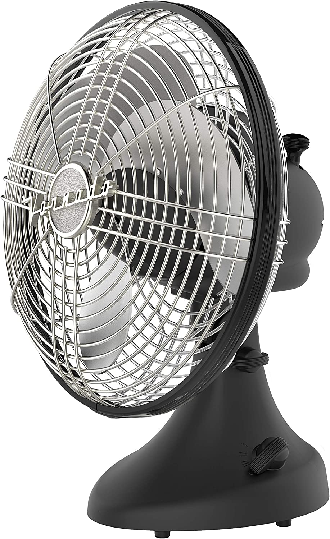 Vornado Silver Swan S Small Room Oscillating Fan, Matte Black