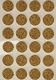 MINTCRAFT FE-50700 Cork Pads, 1/2-Inch, 24-Count