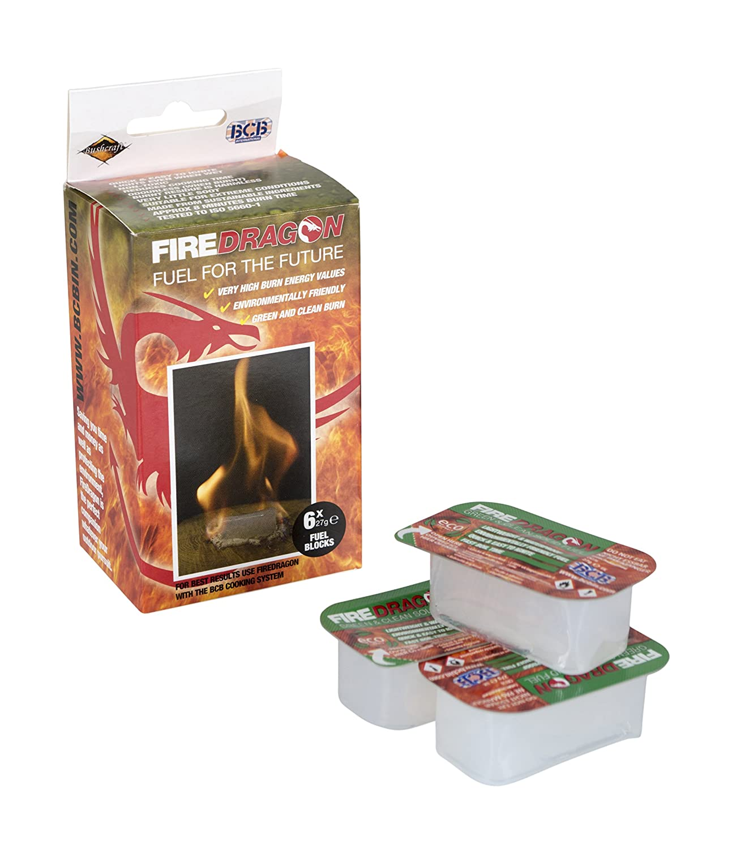 amazon com bcb adventure fire dragon solid fuel 6 x 27gm tablets