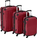 HAUPTSTADTKOFFER - Alex - Juego de 3 maletas rígidas, Rojo brillante, (S, M & L), 235 litros