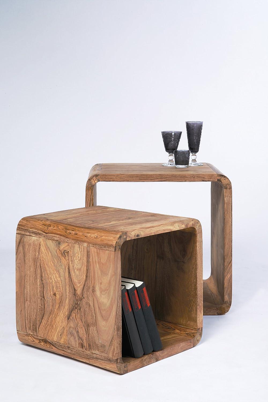 Kare Authentico Cubi Quadrati 42 x 40 x 42 cm Marrone 2//Set