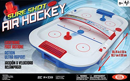 Amazon Com Ideal Sureshot Air Hockey Tabletop Game Toys Games