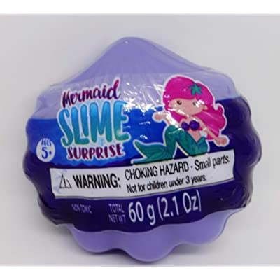 Alley Oop! Mermaid Surprise Glitter Slime, Purple Shell: Toys & Games