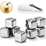 Stainless Steel Ice Cubes Luvcok Reusable Chilling Stones, for Whiskey Wine Beer and Drinks, Pack of 8