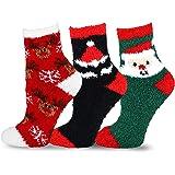 TeeHee Christmas Holiday Men's or Women's Cozy Fuzzy Socks 3pair