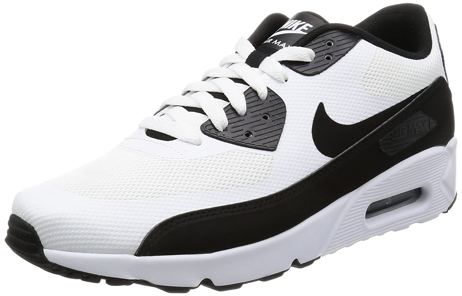 separation shoes 696ac 4ce36 Amazon.com   Nike AIR MAX 90 Ultra 2.0 Essential Mens Running-Shoes  875695-100 13 - White Black-White   Road Running