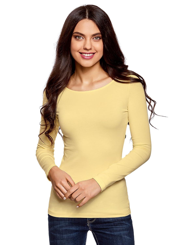 oodji Collection Donna T-Shirt con Maniche Lunghe (Pacco di 2) RIFICZECH s.r.o. 24201007T2
